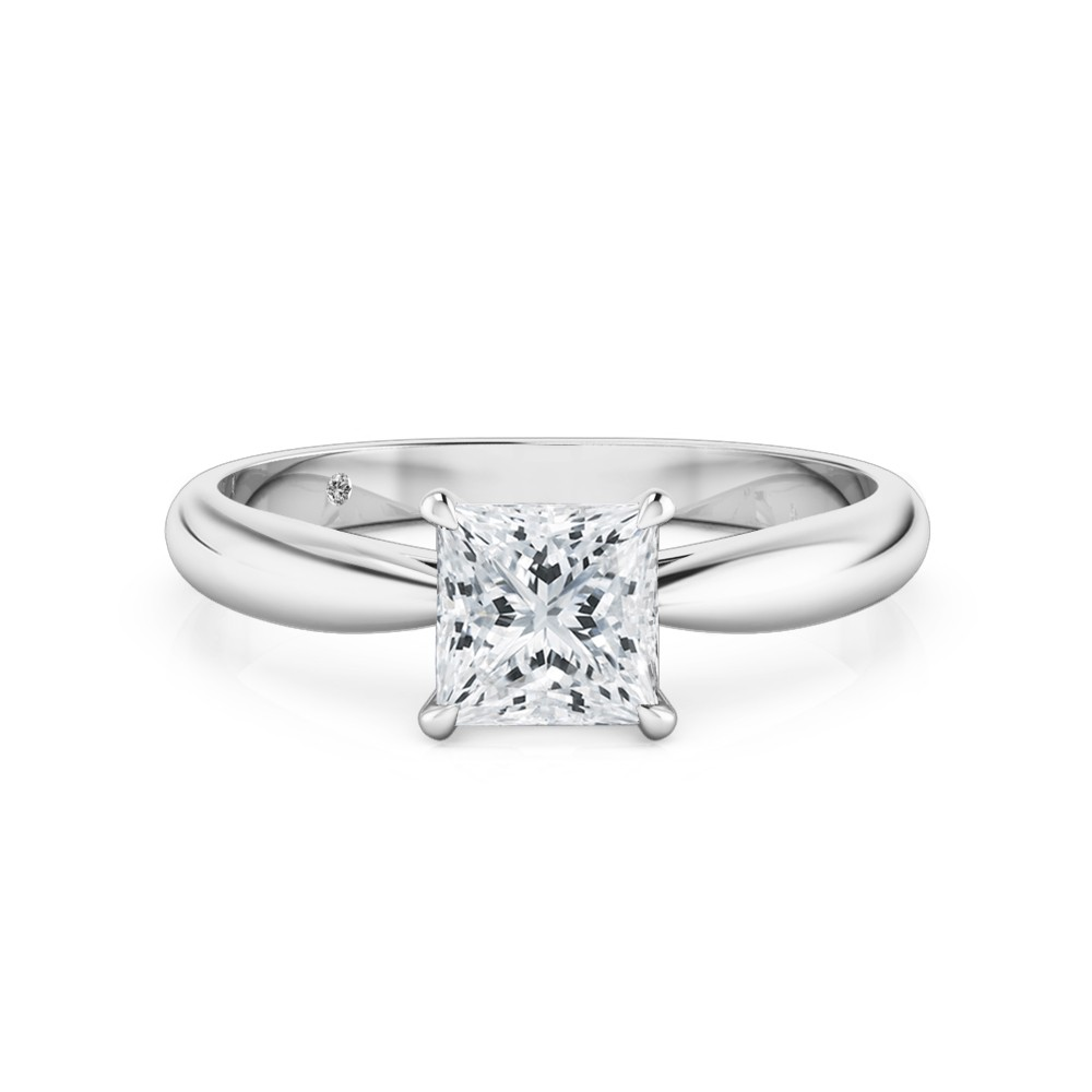 Princess Cut Solitaire Diamond Engagement Ring Platinum