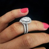 pear Cut Diamond Engagement Ring 18K white gold