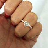 heart Cut Diamond Engagement Ring 18K white gold