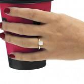 cushion Cut Diamond Engagement Ring 18K yellow gold