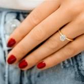 cushion Cut Diamond Engagement Ring 18k rose gold