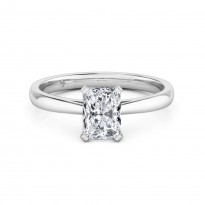 Radiant Cut Solitaire Diamond Engagement Ring Platinum