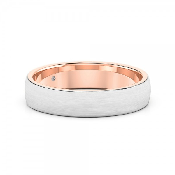 Male Wedding Band 18K Rose Gold