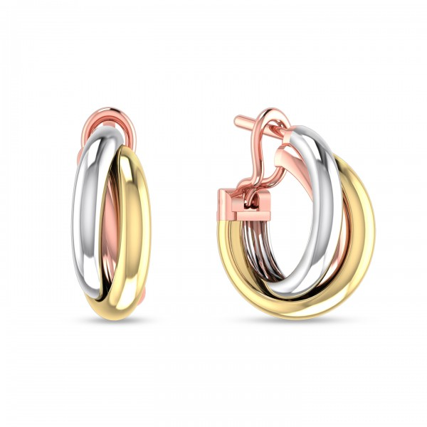 Hoop Earrings 18K Rose Gold,18K White Gold,18K Yellow Gold