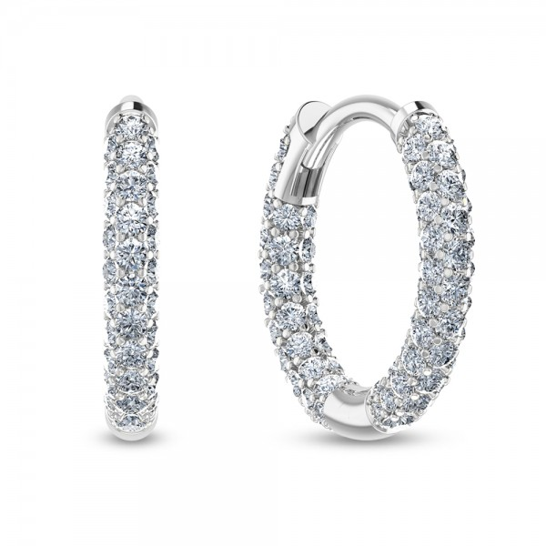 Hoop Earrings 18K White Gold