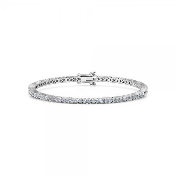 Diamond Tennis Bracelet 18K White Gold